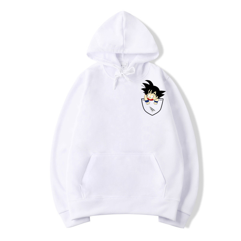 Anime Dragon Ball Z Pocket Hoodie Men Funny Goku Print Hoodies Male Pullovers Sweatshirt Women Oversize Outerwe Mens Sweatshirts