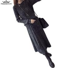 Tnlnzhyn 2017 осень-зима женщин свитер костюмы 2 шт. модный теплый свитер и Юбки Комплекты теплые костюмы устанавливает Y460