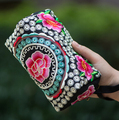 Chinese Embroidery Women Wallets Card Holder Coin Purses Canvas Vintage Female Wallet Large Capacity Purse Carteiras Billeteras