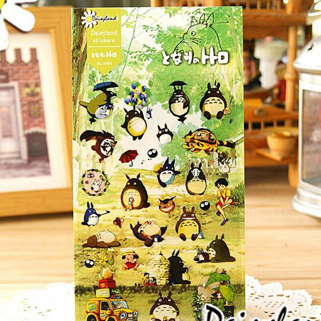 Kawaii Totoro Cartoon Adhesive Stickers DIY Decoration Mobile Phone Wall Sticker In From Home Garden On Aliexpress