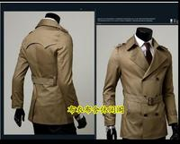 Black khaki plus size S 9XL spring autumn mens trench coat men new business casual gentleman double breasted long jacket men