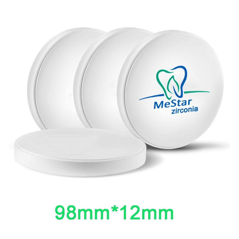 Dental CADCAM Milling Machine Zirconia Block HT ST OD98mm 12mm Open System VHF Wieland Imes Icore