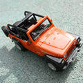 1/32 Escala Diecast Aleación Jeep Juguetes Para Niños Tire Hacia Atrás Del Coche Convertible Wrangler Jeep Vehículos de Colección de Regalos