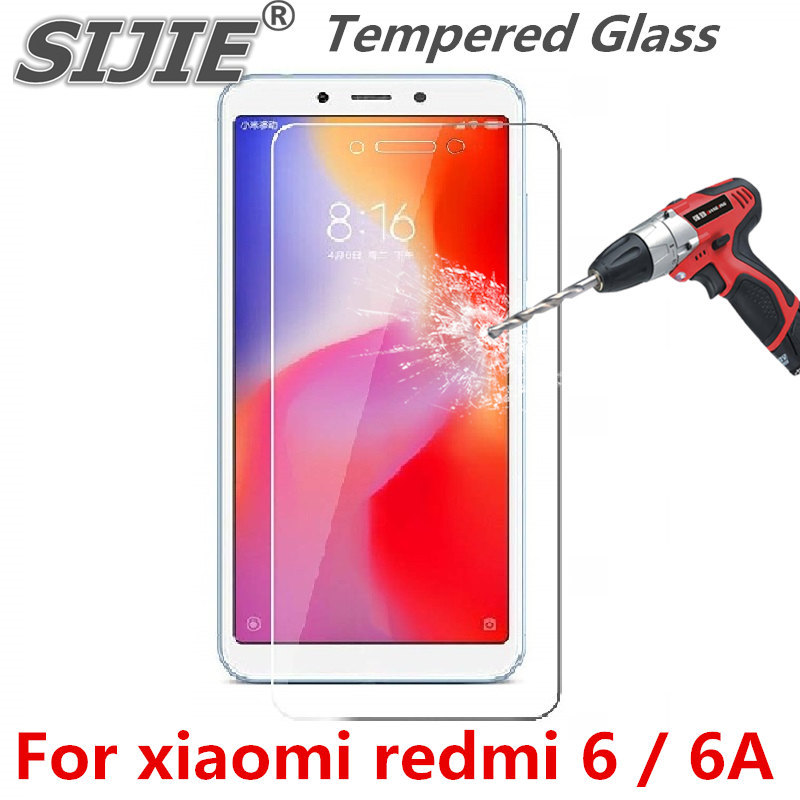 Tempered Glass For xiaomi redmi 6A 6 A redmi6A screen protective toughened case friendly fit in on Suitable clear
