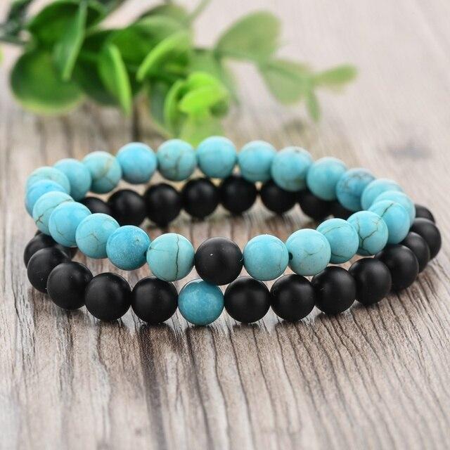 Купить chicvie синий черный этнические бусины из натурального камня
