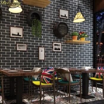 beibehang 53X300cm Mediterranean 3d brick self-adhesive wallpaper modern minimalist decorative TV background wall paper sticker