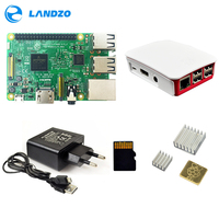 H Raspberry Pi 3 Model B Kit Pi 3 Board Pi 3 Case European Power Supply