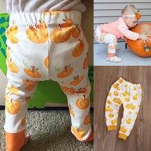 Halloween Pumpkin Toddler Baby Boy Girl Kids Long Pants Trousers Bottoms Leggings