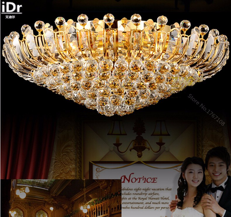 Contemporary Ceiling Lights | Crystal Ceiling Lights | Contemporary luxury crystal ceiling circular living room lights LED lighting Bedroom Ceiling Lights  100% quality guarantee