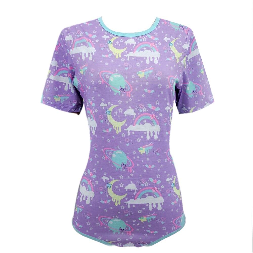 Billiger Preis Zehn @ Nacht Pyjamas Frauen Nette Pyjamas Kurzen ärmeln Onesie (abdl) Snap Schritt Strampler Seien Sie Freundlich Im Gebrauch