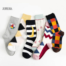 2019 autumn and winter new England wind socks personalized Amazon couple socks men and women cotton stockings(6 colors)