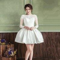 2018 Новый белый/слоновая кость Короткие свадебное платье es невест пикантные свадебное платье Vestido De Noiva Реальный образец