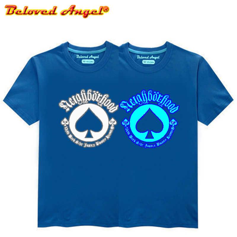 זוהר באטמן לוגו ילדים T חולצה זוהר בחושך סופר גיבור בני בנות חולצת טי למעלה טי נוקמי ילדי חולצה יום הולדת מתנה