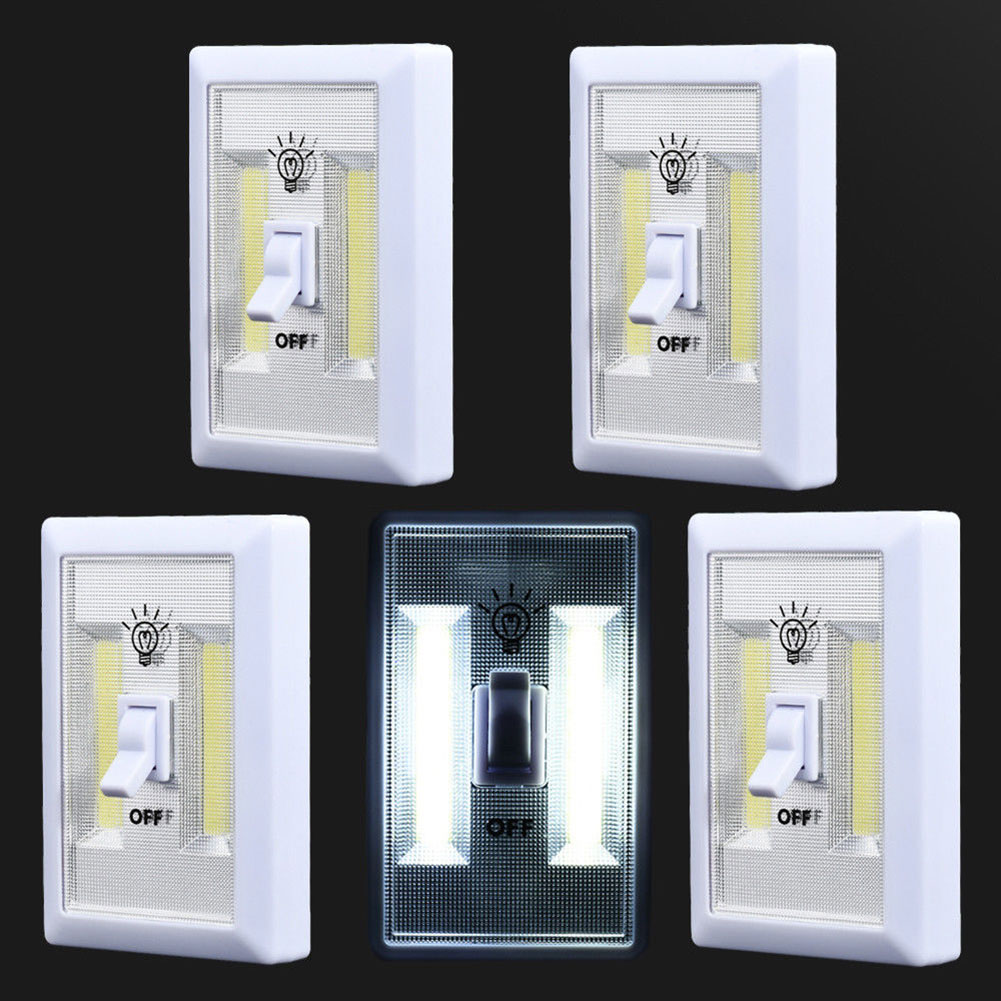 2pcs/5pcs COB LED Wall Switch Magnet Closet Cordless Cabinet Lights @8 JDH99