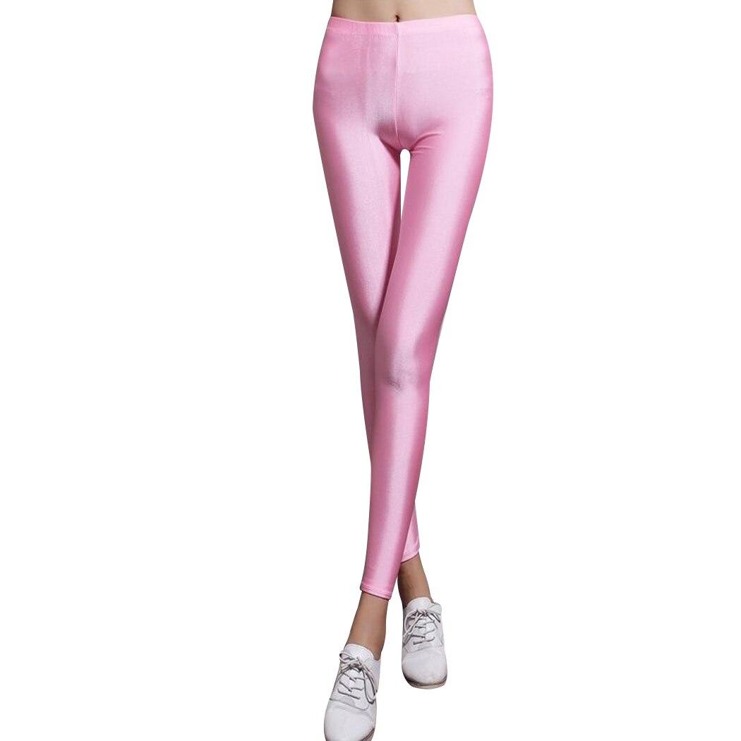 2019 Summer Spring Sexy Leggings Women Skinny Shiny High Waist Long Pants Womens Stretchy Disco Hot Pants Leggings Female Лосины
