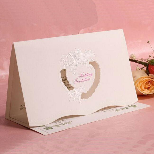 20pcs/pack Bronzing Wedding Invitation Card Wedding Favors Hollow Flowers Design Invitation Card with Blank Inner Sheet 1 design laser cut white elegant pattern west cowboy style vintage wedding invitations card kit blank paper printing invitation