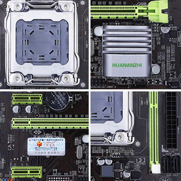 HUANAN ZHI X79M برو اللوحة ل إنتل LGA 2011 E5 2660V2 2680V2 DDR3 1333/1600/1866MHz 64GB M.2 PCI-E NVME M-ATX اللوحة الرئيسية