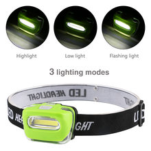 HOT Portable COB LED Camping Hiking Mini Headlamp Head Torch Light 3 Modes Headlight waterproof Outdoor biking camping equipment(China)