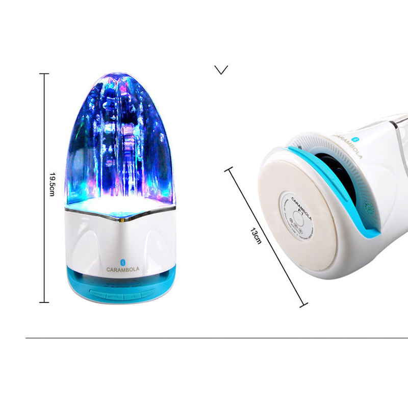 1PC High Quality Water Dance Bluetooth Speakers Colorful Lamps Water Coolers Cell Phone Computer Card Radio Speaker Subwoofer image