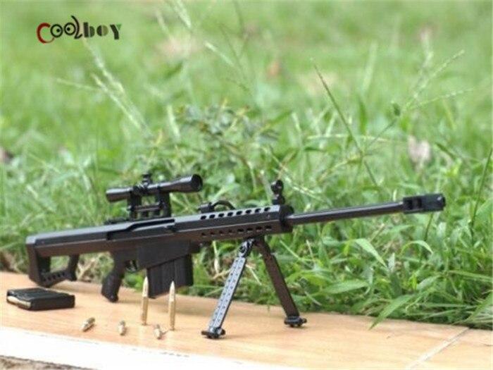 1:6 scale metal toy gun barrett m82a1 sniper rifle gun dismountable brinquedos...