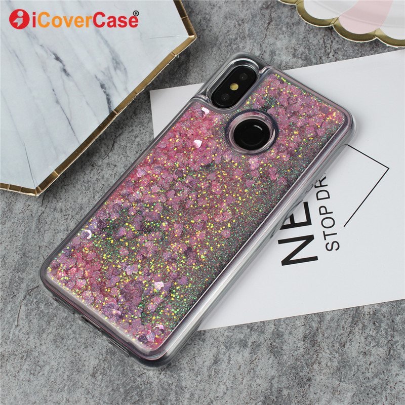 Phone Cases For Xiaomi Xiao Mi A2 Lite 6 8 SE Redmi 3S Note 5 Pro 5A Plus 3 6A Liquid Shining Soft Shell Protect Cover Case Etui