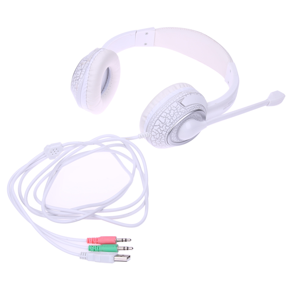 Professional Gaming Headset Headphones LED Luminous Earphone headphone For PC USB+3.5mm Internet Bar use L3FE g1100 3 5mm pro gaming headset headphone for ps4 laptop crack pattern led led blue black red white