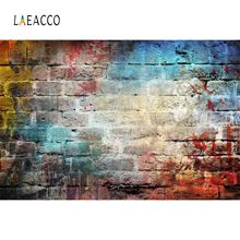 Laeacco Brick Backgrounds For Photography Graffiti Colorful Wall Party Wallpaper Baby Portrait Photo Backdrops Studio