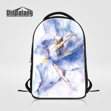Dispalang Модные женские дорожные сумки танцы балета для девочек Школьный рюкзак для девочек-подростков стильные портфели Bolsa rugtas