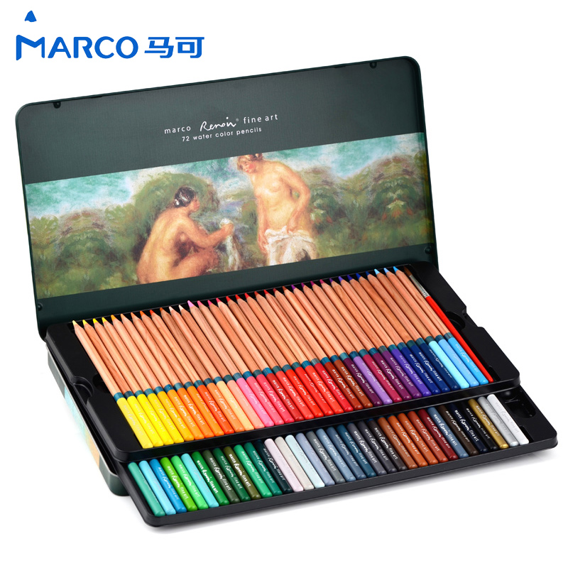 Marco Raffine Fine Art Colored Pencils 72 Set 48 Colors Drawing Sketches Colour Pencil  lapices de colores for School Supplies marco raffine fine art colored pencils 24 36 48 colors drawing sketches mitsubishi colour pencil for school supplies