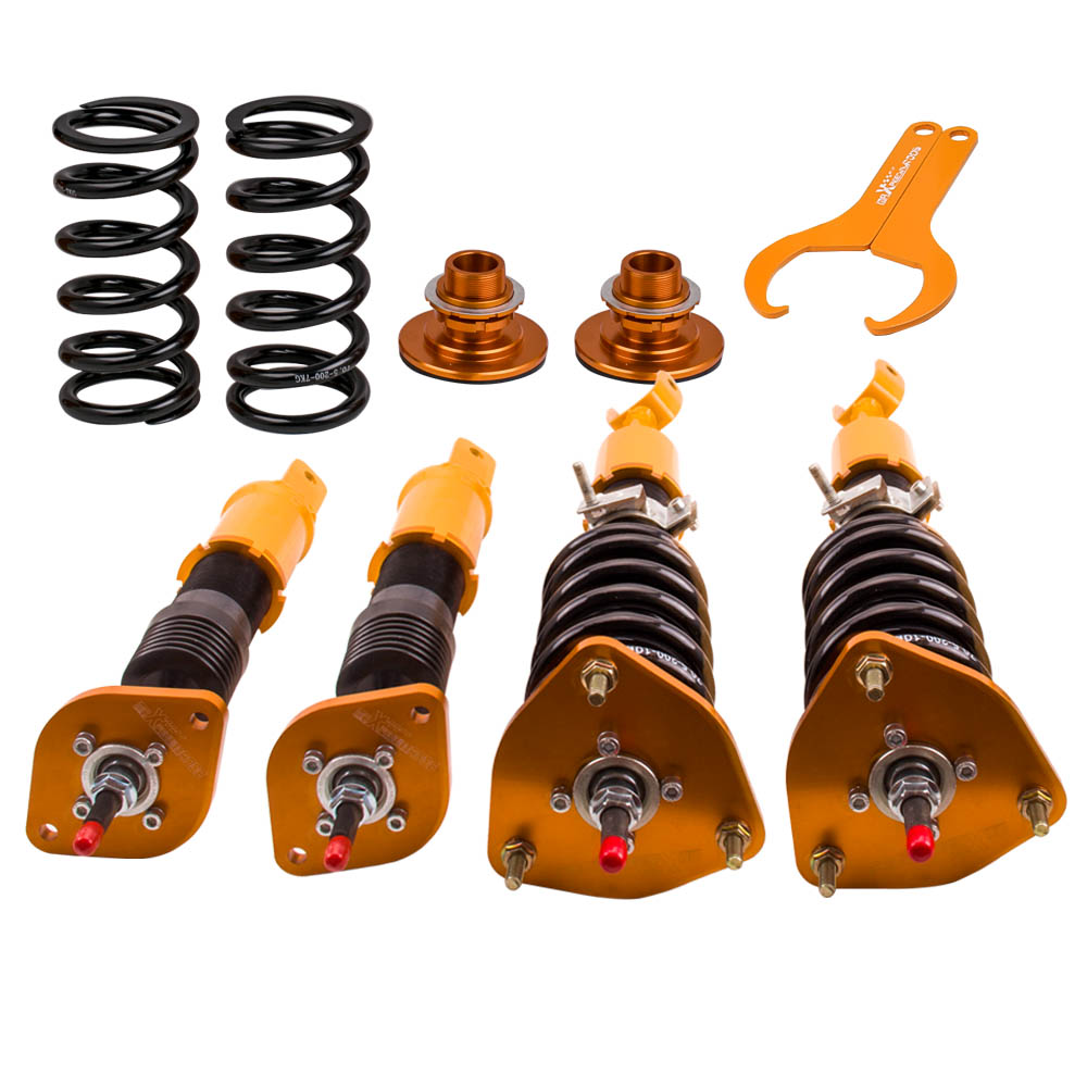 Coilovers Kits For Nissan 350Z 2003-2008 Roadster Convertible 3.5 Coil Struts 24-Way Damper Suspension Spring Strut Front Rear