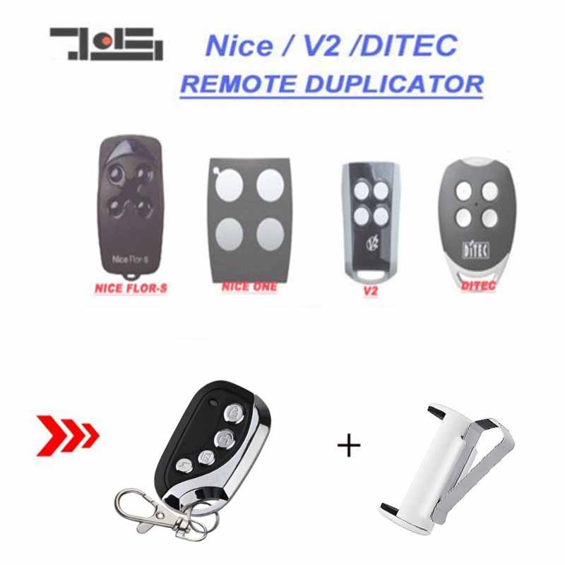 2pcs FOR V2, Ditec GOL4, Nice Flors, Nice One Remote Control duplicator 433.92MHz top quality2pcs FOR V2, Ditec GOL4, Nice Flors, Nice One Remote Control duplicator 433.92MHz top quality