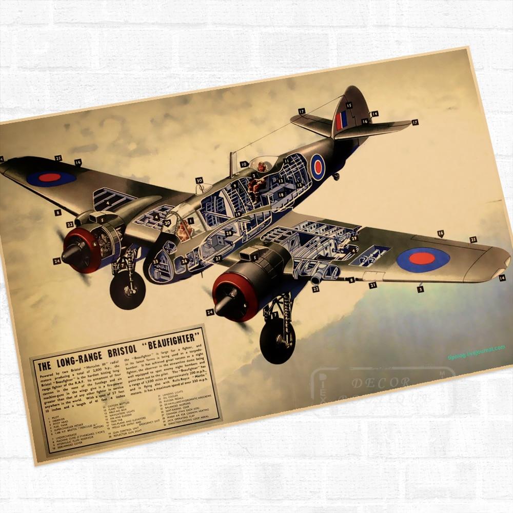 Long Range Bristol Beaufighter Propaganda WWII WW2 Poster Vintage ...