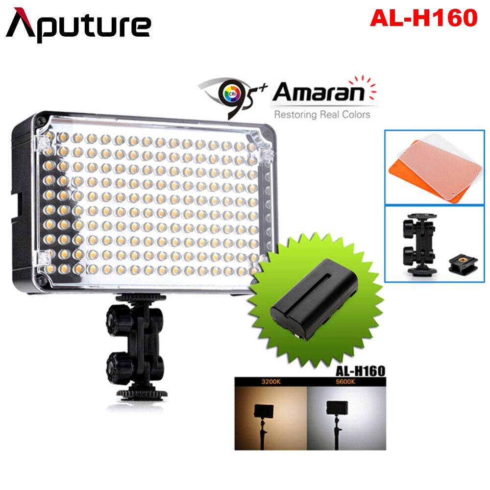 Aputure Amaran AL H160 CRI95 + 160 Pcs LED Video Studio Light Camera Fotografie Verlichting met NP F550 Oplaadbare Batterij-in Fotografieverlichting van Consumentenelektronica op  Groep 1
