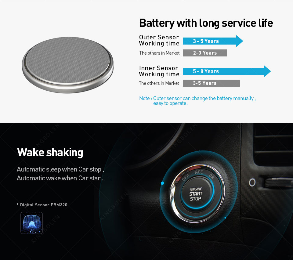 VC601 TPMS Wireless Smart Car TPMS Bluetooth 4 0 Auto Tyre Tire Pressure  Monitoring System 4 Sensors for iOS Android App
