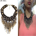 2017 new design high quality fashion necklace collar bib choker beaded tassel Necklaces & Pendants statement Necklaces for women