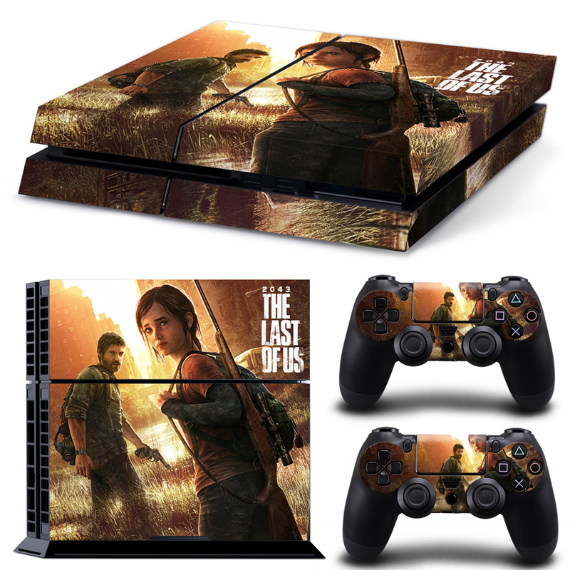 OSTSTICKER The Last of Us skin sticker protector for PlayStation 4 console and 2 controller protective decal Video Games