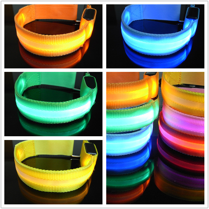 Outdoor Sports Night Running Light Safety Jogging Led Arm Leg Warning Portable Wristband Riding Bike Bicycle Party Glowing Band