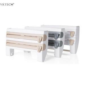 Image 3 - Настенный бумажный держатель для полотенец подставка для соуса 4 в 1 пластиковый нож для пленки Многофункциональный кухонный Органайзер