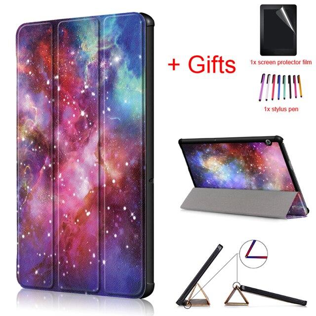 """Ultra Slim Trường Hợp đối với Huawei Mediapad T5 10 AGS2-W09/L09/L03/W19 10.1 """"Cover cho Huawei mediapad T5 10 trường hợp Máy Tính Bảng + phim + stylus"""