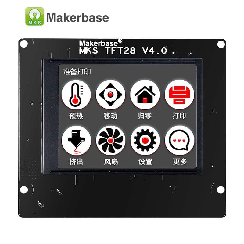 3d impresión pantalla táctil MKS TFT28 pantalla color RepRap controlador panel de soporte/WIFI/APP/corte ahorro idioma local