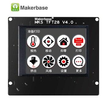 Tela de toque da impressora 3d exibição MKS TFT28 display colorido suporte do painel controlador RepRap/WIFI/APP/queda de poupança língua local