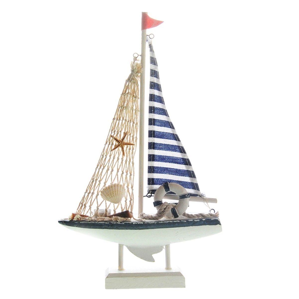 Bleu bateau voile achetez des lots petit prix bleu for Decoration marine bois