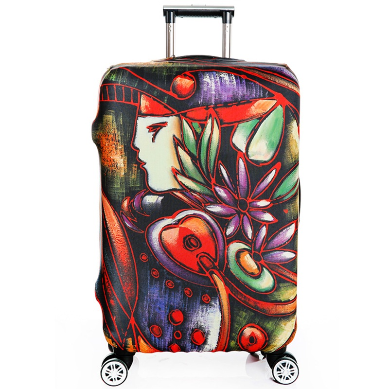 2018 New durable Luggage Cover Protector Trolley Suitcase Covers Elastic Polyester Protection Case Travel Luggage Cover Unisex
