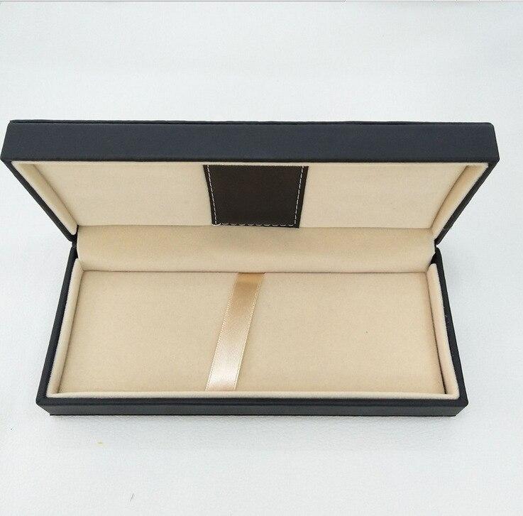 10 шт./компл. черный цвет из искусственной кожи материал футляр для подарочной ручки Оптовая продажа высокое качество
