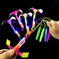 100 Pcs/lot Amazing Light Arrow Rocket Helicopter Flying Toy LED Light Flash Toys For Children Party Fun Gift Kids Glowing Toys