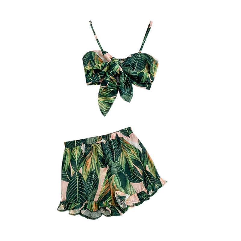 NiceMix <font><b>2019</b></font> <font><b>Summer</b></font> New Women <font><b>Sets</b></font> Holiday Style <font><b>Sexy</b></font> Fashion Suit Tie Backless <font><b>Short</b></font> Tops and Casual <font><b>Shorts</b></font> Two-piece <font><b>Sets</b></font> image