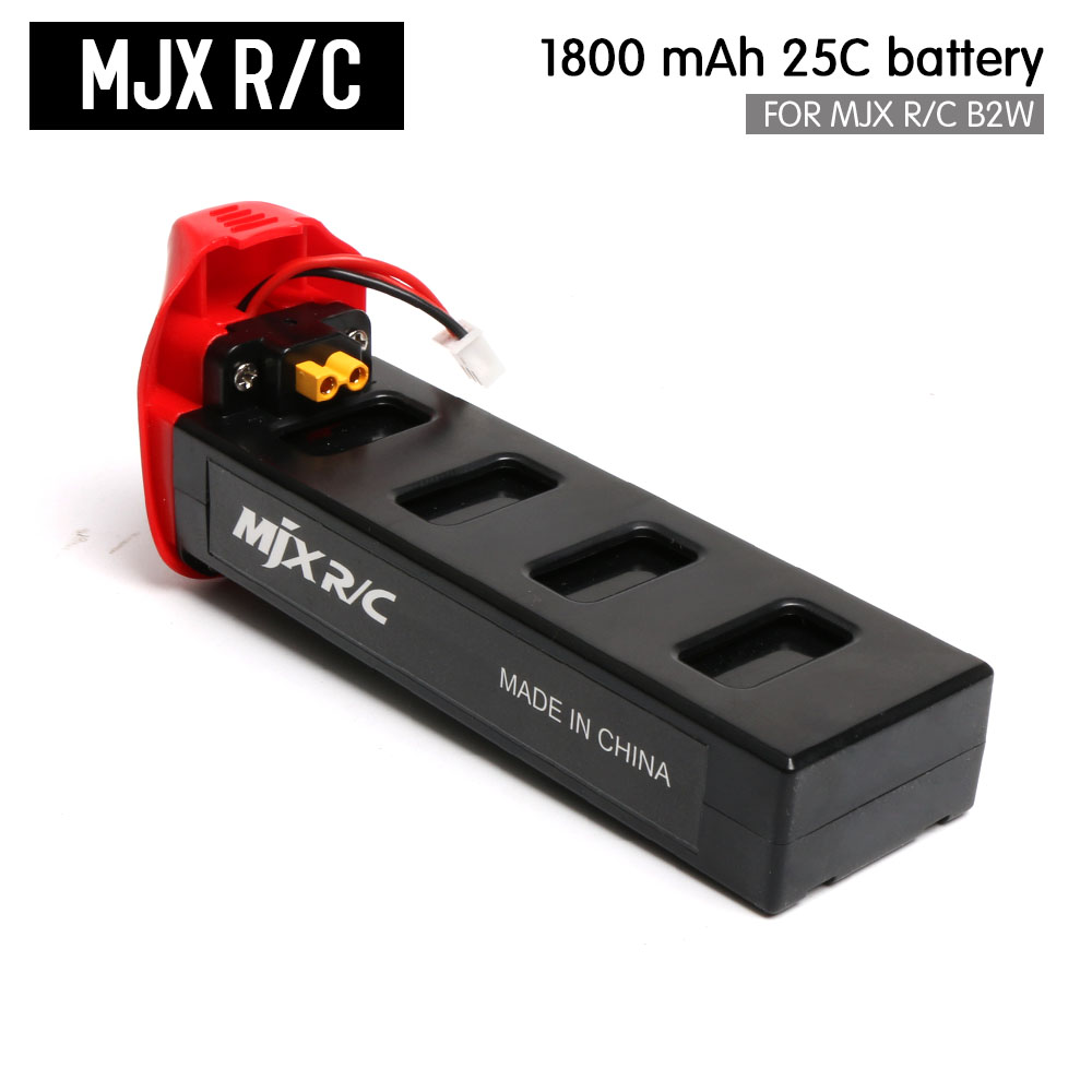 100% Original MJX Bugs 2W & MJX B2W RC Quadcopter High Capacity 1800mAh 25C LiPo Battery RC Drone Spare Parts mjx квадрокоптер на радиоуправлении bugs 2