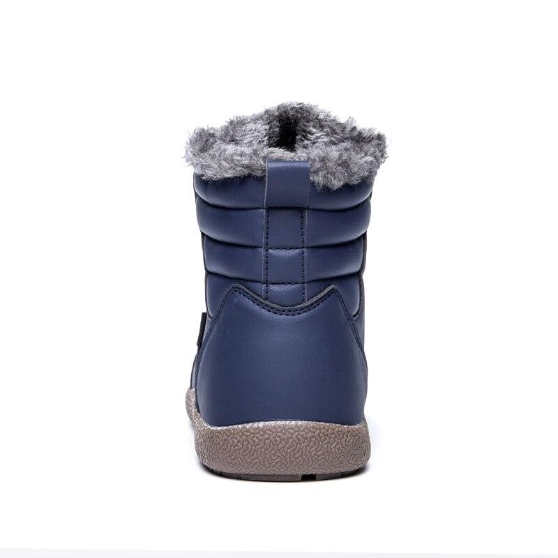 D'hiver Bottes Noir Casual En Bois Mâle Neige Wrok Hommes 2018 Avec Bot Fourrure Chaussures Cuir marron Puls Grande bleu Pulsh Boot Taille qwnE5xCH