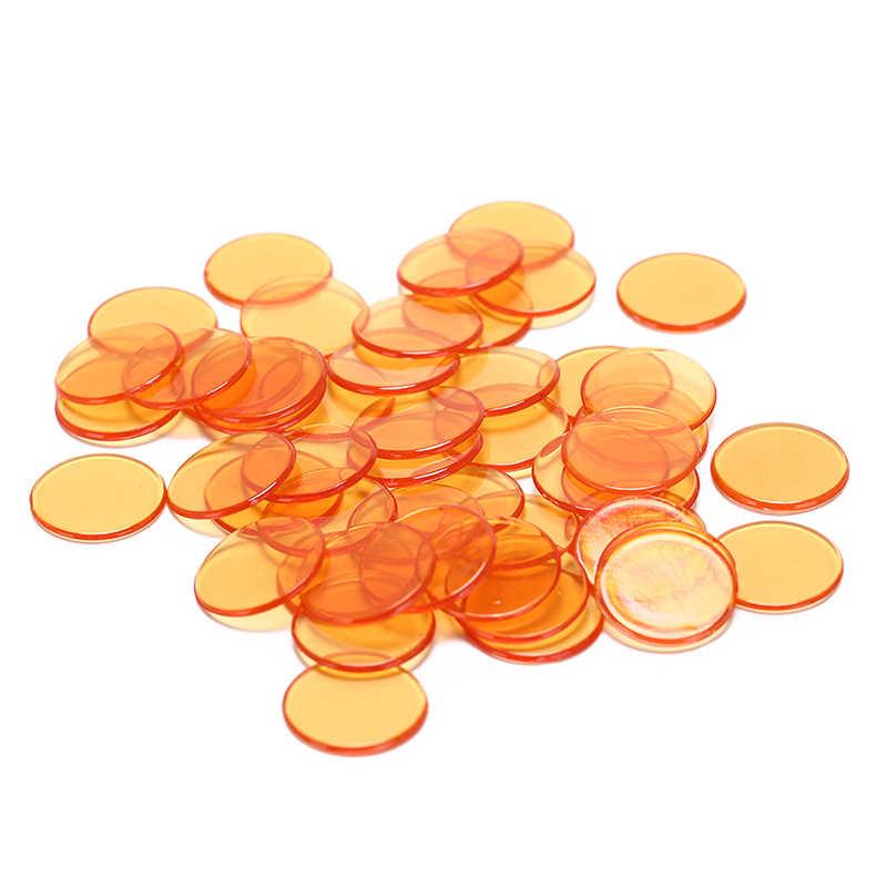 50 marcadores plásticos do bingo do casino das microplaquetas do pôquer dos pces 1.5cm para o divertimento do clube da família fontes acce 5 do jogo do bingo do carnaval cores