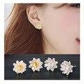 925 Sterling Silver STUD  Earrings 925 Sterling Silver Lotus Flower Earrings For Women Jewelry Pendientes Brincos F00005